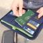 กระเป๋าใส่พาสปอร์ตสั้น กระเป๋าใส่หนังสือเดินทาง ขนาดกะทัดรัด ช่องเยอะ ใส่เอกสารสำคัญ ธนบัตร บัตรต่าง ๆ พกพาสะดวก ผลิตจากโพลีเอสเตอร์กันน้ำ คุณภาพดี thumbnail 37