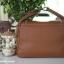 กระเป๋าหนังแท้ ทรงฮิต Lindy 26cm สีน้ำตาล Silver material Coated Leather หนังลูกวัวแท้100% งานคุณภาพไฮเอน thumbnail 10