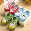 ถุงเท้ารองเท้า มีกันลื่น เนื้อผ้านุ่มนิ่ม สำหรับเด็กวัย 0-2 ปี ลายยีราฟสีเขียว thumbnail 3