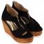 รองเท้าส้นเตารีดไซส์ใหญ่ 40-42 Zipper หนังกลับนิ่ม สีดำ - KR0235 thumbnail 1