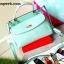 กระเป๋าถือ Mango Tote Bag with turn lock 2015 สีฟ้าน้ำทะเล สดใส thumbnail 14