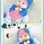 AP098••เซตหมวก+ผ้ากันเปื้อน•• / [สีน้ำเงิน] เต่าทอง thumbnail 3