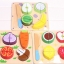 ของเล่นไม้ ชุดหั่นผักผลไม้ ทำครัว มีถาดหลุมเล่นวางจับคู่ thumbnail 1