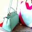 กระเป๋าถือ Mango Tote Bag with turn lock 2015 สีฟ้าน้ำทะเล สดใส thumbnail 11