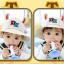 HT483••หมวกเด็ก•• / หมวกปีกกว้าง-DH (สีเบจ) thumbnail 4