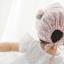 หมวกบอนเน็ต หมวกเด็กผู้หญิงปิดท้ายทอย ลายดอกไม้เล็ก (มี 2 สี) thumbnail 4