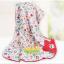 BK049••ผ้าห่มเด็ก•• / ตุ๊กตาหิมะ-เทา (ลายปัก) thumbnail 4