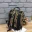 กระเป๋าเป้ Anello x Legato Largo Botanical & Cat nylon Cap fasteners Backpack Black Button รุ่นคลาสสิค thumbnail 4
