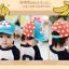 หมวกแก๊ป หมวกเด็กแบบมีปีกด้านหน้า ลายลิงน้อย (มี 3 สี) thumbnail 9