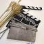 กระเป๋าคลัช แฟชั่นสไตล์ Hermes Clutch bag Snake skin หนังสวยมากค่ะ มาพร้อมสายยาว 990 ส่งฟรี ems thumbnail 3