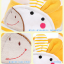 HT126••หมวกเด็ก•• / หมวกไวเซอร์ (เปิดศีรษะ) ม้าลาย [สีเหลือง] thumbnail 6