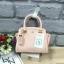 LYN Madison Bag สีชมพูโอรส กระเป๋าถือหรือสะพายทรงสวย รุ่นใหม่ล่าสุด วัสดุหนัง Saffiano thumbnail 7