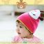 HT445••หมวกเด็ก•• / หมวกบีนนี่-ผีเสื้อ (สีชมพู) thumbnail 3