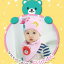 AP109••เซตหมวก+ผ้ากันเปื้อน•• / [สีชมพูอ่อน] น้องหมี thumbnail 1