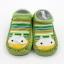 ถุงเท้ารองเท้า มีกันลื่น เนื้อผ้านุ่มนิ่ม สำหรับเด็กวัย 0-2 ปี ลายยีราฟสีเขียว thumbnail 2