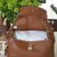 กระเป๋าหนังแท้ ทรงฮิต Lindy 26cm สีน้ำตาล Silver material Coated Leather หนังลูกวัวแท้100% งานคุณภาพไฮเอน thumbnail 12