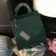 กระเป๋า CHARLES & KEITH TOP HANDLE BAG สีเขียว กระเป๋าถือหรือสะพายรุ่นใหม่ล่าสุดแบบชนช็อป thumbnail 1