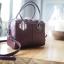 กระเป๋า Amory Leather Mini Durable Classic bag สีแดงเข้ม thumbnail 7