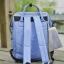 กระเป๋าเป้ ANELLO X PAGEBOY- LOCAL BRAND วัสดุ Polyester canvas สลับหนังกลับ ปากกระเป๋าเปิดปิดด้วยซิปคู่ thumbnail 3
