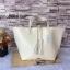 กระเป๋า MNG Shopper bag สีขาวครีม กระเป๋าหนัง เชือกหนังผูกห้วยด้วยพู่เก๋ๆ!! จัดทรงได้ 2 แบบ thumbnail 3