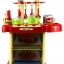 ของเล่นชุดเคาน์เตอร์ครัวมินิ พร้อมอุปกรณ์ทำอาหารสำหรับคุณหนูครบเซต สีแดงสไตล์โมเดิร์น thumbnail 5