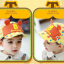 HT364••หมวกเด็ก•• / หมวกแก็ป Bubble (ปีกสีเหลือง) thumbnail 2