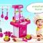 ของเล่นชุดเคาน์เตอร์ครัวมินิ พร้อมอุปกรณ์ทำอาหารสำหรับคุณหนูครบเซต สีชมพูสวยหวาน thumbnail 2
