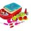 ของเล่นชุดเคาน์เตอร์ครัวมินิ พร้อมอุปกรณ์ทำอาหารสำหรับคุณหนูครบเซต สีแดงสไตล์โมเดิร์น thumbnail 6
