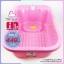 อ่างอาบน้ำเด็ก farlin FIN BABYPLUS สีชมพู thumbnail 1