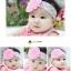 ผ้าคาดผมเด็กอ่อน ดอกไม้ลูกไม้สไตล์เกาหลี thumbnail 3