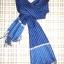 ผ้าพันคอย้อมครามทอมือ Premium Gift *สินค้า Handmade 100% ราคา 490 บาท(Ems +70) Bagshopweb.com thumbnail 11