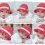 หมวกเด็กหญิง วัย 6-24 เดือน ลายจุด มีระบาย น่ารัก thumbnail 3