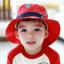 HT495••หมวกเด็ก•• / หมวกปีกกว้าง-บอลลูน (สีแดง) thumbnail 1