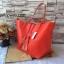 กระเป๋า MNG Shopper bag สีแดง กระเป๋าหนัง เชือกหนังผูกห้วยด้วยพู่เก๋ๆ!! จัดทรงได้ 2 แบบ thumbnail 3