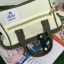 กระเป๋า Anello 2 Way Mini Boston Bag Twotone ขาวเขียว สะพายข้างลำตัว thumbnail 3