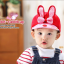 HT095••หมวกเด็ก•• / หมวกแก๊ปกระต่าย [สีแดง] thumbnail 1