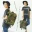 กระเป๋าเป้ Anello flap rucksack polyester canvas แบรนด์ดังรุ่นใหม่มาอีกแล้วว วัสดุผ้าแคนวาสเนื้อดี ยังคงเอกลักษณ์ความกว้างของปากกระเป๋าเพื่อการใช้งานที่ง่ายและสะดวก รุ่นนี้มีช่องเก็บสัมภาระมากมาย ทั้งภายในและภายนอก ด้านข้างใส่ขวดน้ำได้ ด้านหลังยังคงเป็นช่ thumbnail 1