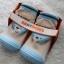 รองเท้าถุงเท้าพื้นยางหัดเดิน สีฟ้า ลายหมี Beary cute size 20-25 thumbnail 8