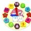 ของเล่นไม้ นาฬิกา บล็อคตัวเลขและรูปทรง Multicolor Brick Clock thumbnail 3