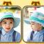 HT496••หมวกเด็ก•• / หมวกปีกกว้าง-บอลลูน (สีฟ้า) thumbnail 4