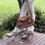 กระเป๋าหนังแท้ ทรงฮิต Lindy 26cm สีน้ำตาล Silver material Coated Leather หนังลูกวัวแท้100% งานคุณภาพไฮเอน thumbnail 4