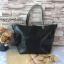 กระเป๋า MNG Shopper bag สีดำ กระเป๋าหนัง เชือกหนังผูกห้วยด้วยพู่เก๋ๆ!! จัดทรงได้ 2 แบบ thumbnail 3