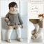 SK012••ถุงเท้าเด็ก•• แรคคูน (สีน้ำตาลอ่อน-ข้อสั้น) thumbnail 1