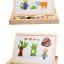ของเล่นไม้ กระดานแม่เหล็กต่อภาพ 2 หน้า Animal Magnetic Puzzle thumbnail 2