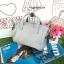 กระเป๋า Anello 2 Way Mini Boston Bag Light Grey สะพายข้างลำตัว thumbnail 9