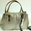 Coach F55515 MINI CHRISTIE CARRYALL IN METALLIC LEATHER WITH EXOTIC TRIM แท้ thumbnail 1