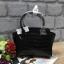 กระเป๋าถือสะพาย อยู่ทรงสวย ขนาดกำลังดี สีดำหนังลายจระเข้ CHARLES & KEITH CITY BAG CK2-50780253 thumbnail 1