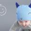 หมวกบีนนี่ หมวกเด็กสวมแบบแนบศีรษะ ลายหน้ายิ้ม (มี 5 สี) thumbnail 4