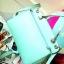 กระเป๋าถือ Mango Tote Bag with turn lock 2015 สีฟ้าน้ำทะเล สดใส thumbnail 7