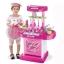 ของเล่นชุดเคาน์เตอร์ครัวมินิ พร้อมอุปกรณ์ทำอาหารสำหรับคุณหนูครบเซต สีชมพูสวยหวาน thumbnail 1